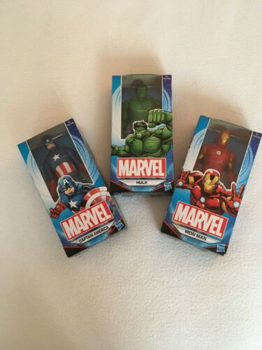 "HULK Captain America  4-6/"" Figures UK Marvel Hasbro X 3 Iron Man"