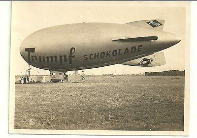Zeppelin Werbung Trumpf Originalfoto 9x11 cm bei Hannover ca. 1940