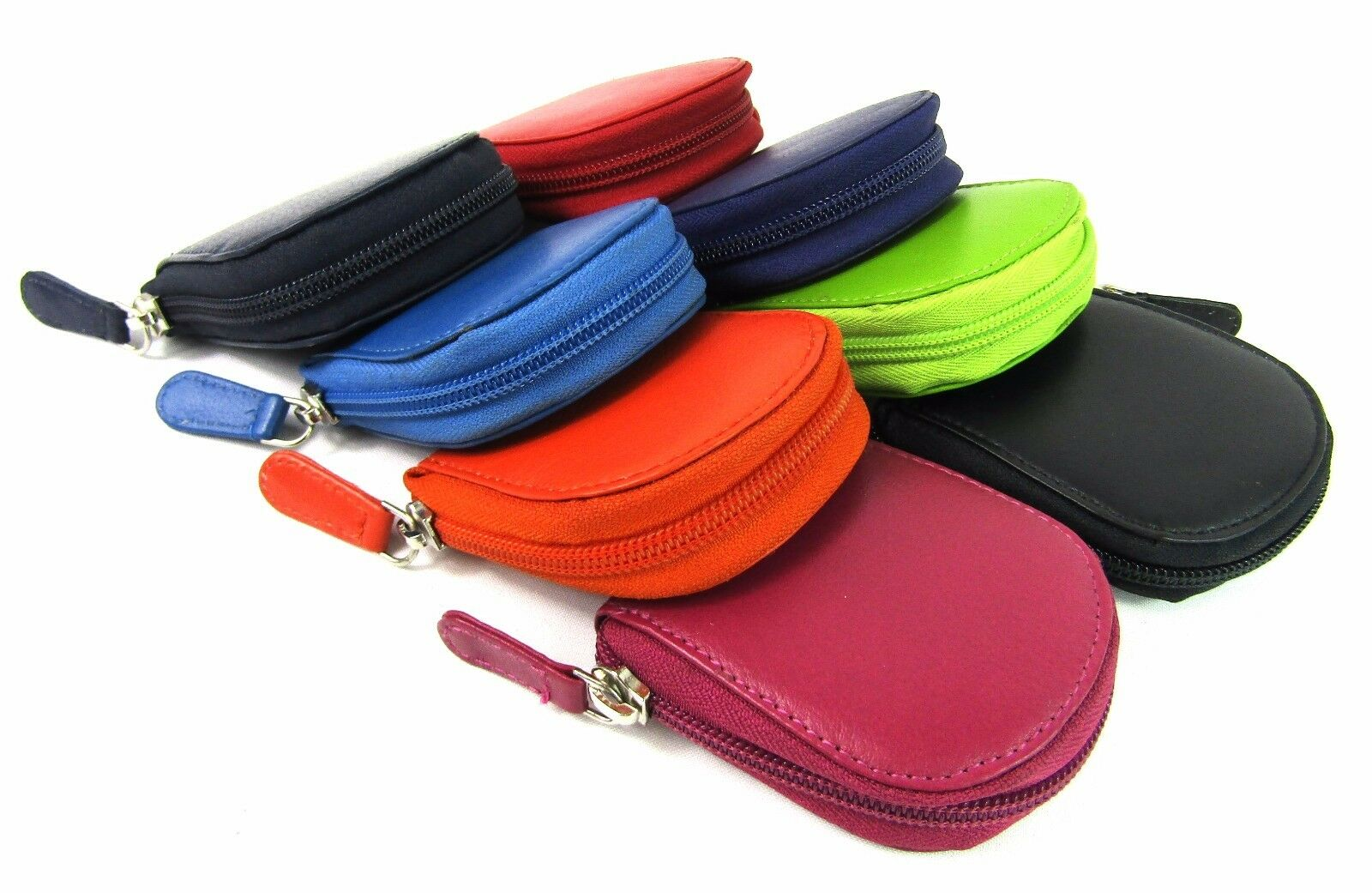 Ladies Mens New Super Soft Small Zipped Coin Pouch Purse Wallet Bright Colours