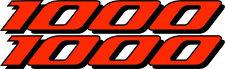 2 GSXR 1000 Decals Stickers Emblem Decal Street Bike Orange graphics Stickers