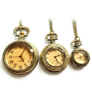 Vintage-Antique-Classic-Pocket-Watch-Dark-Brown-Quartz-Pocket-Watch-Jewelry-Gift