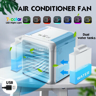 Portable Air Conditioner Fan Mini Cool Bedroom Desk Cooler