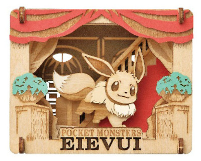 Wood style Pokemon Eevee PT-W06 Japan import NEW PAPER THEATER