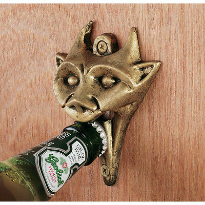 Gothic Beast Cast Iron Gargoyle Medieval Brass Finish Bar & Pub Bottle Opener