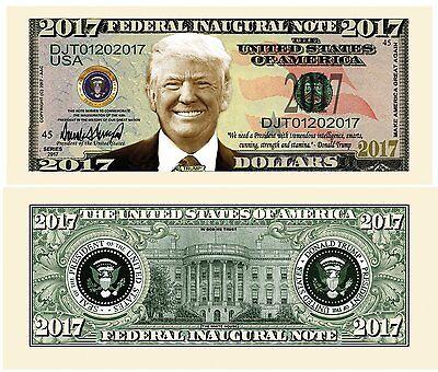 FAKE 1 G2 Donald Trump 2017 Federal Inaugural Bill President Collectible