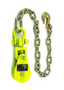 2T Snatch Block Tow Chain for Flatbed Tow Truck Rollback Carrier Wrecker Hauler