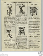 1919 PAPER AD Bicycle Pedal Power Velocipede Scroll Saw All Iron Balance Wheel