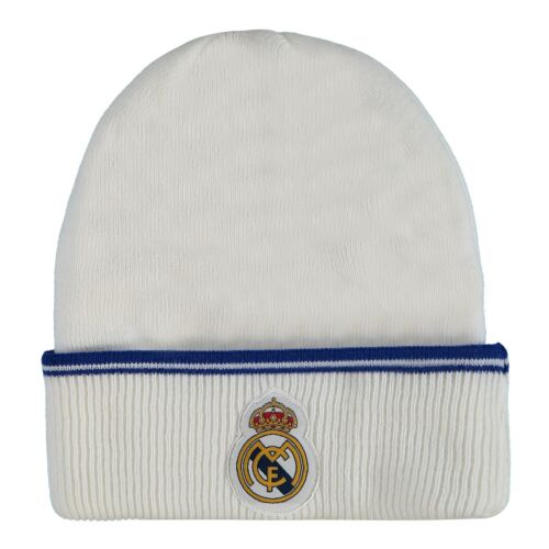 Real Madrid Fan Hut Beanie Wintermütze Wärmend Weiß Erwachsene Fußball