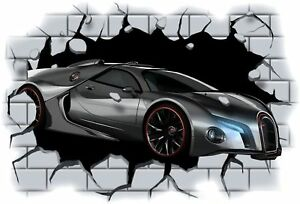 Huge-3D-Bugatti-Crashing-through-wall-View-Wall-Sticker-Mural-Decal-Film-5