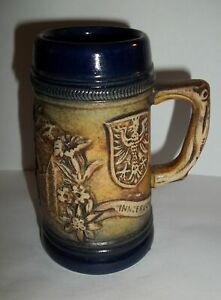 Collectible-Vintage-Stein-Made-In-Germany-Signed-Original-Lerchen