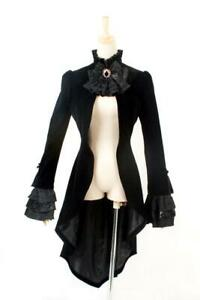 Punk-Rave-Gothic-Victorian-Steampunk-Vintage-Pirate-Corset-Tail-Coat
