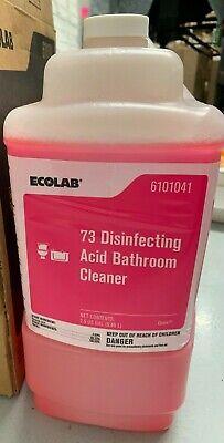 Ecolab 6101041- 73 Disinfecting Acid Bathroom Cleaner, 2 ...