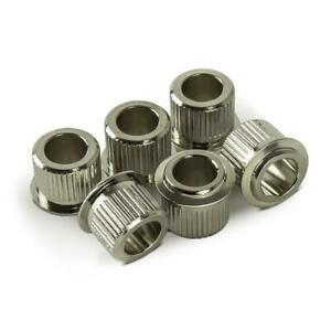 Hosco-10mm-Conversion-Adaptor-Bushings-for-Gotoh-Tuners-6-35mm-shaft-Nickel