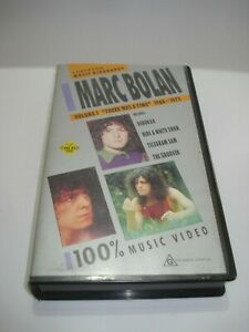 MARC-BOLAN-VOLUME-1-034-THERE-WAS-A-TIME-034-1968-1973-VHS-VIDEO-TAPE-PAL-FREE-POSTAGE