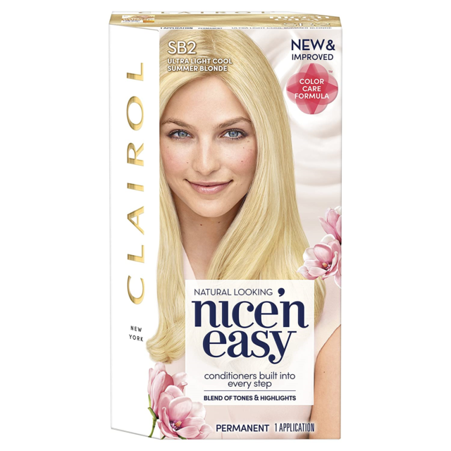 Clairol N Easy Hair Color Sb2 Ultra Light Cool Blonde Kit 1 Count For Sale Online Ebay