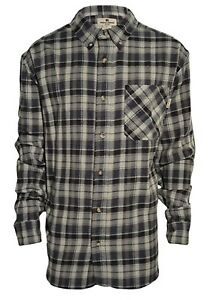 Woolrich-Mens-Flannel-Long-Sleeve-Button-Down-Shirt-Gray-Plaid-Size-XXL