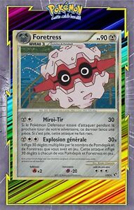 3//90 pokemon card new france Foretress holo-hs indomitable