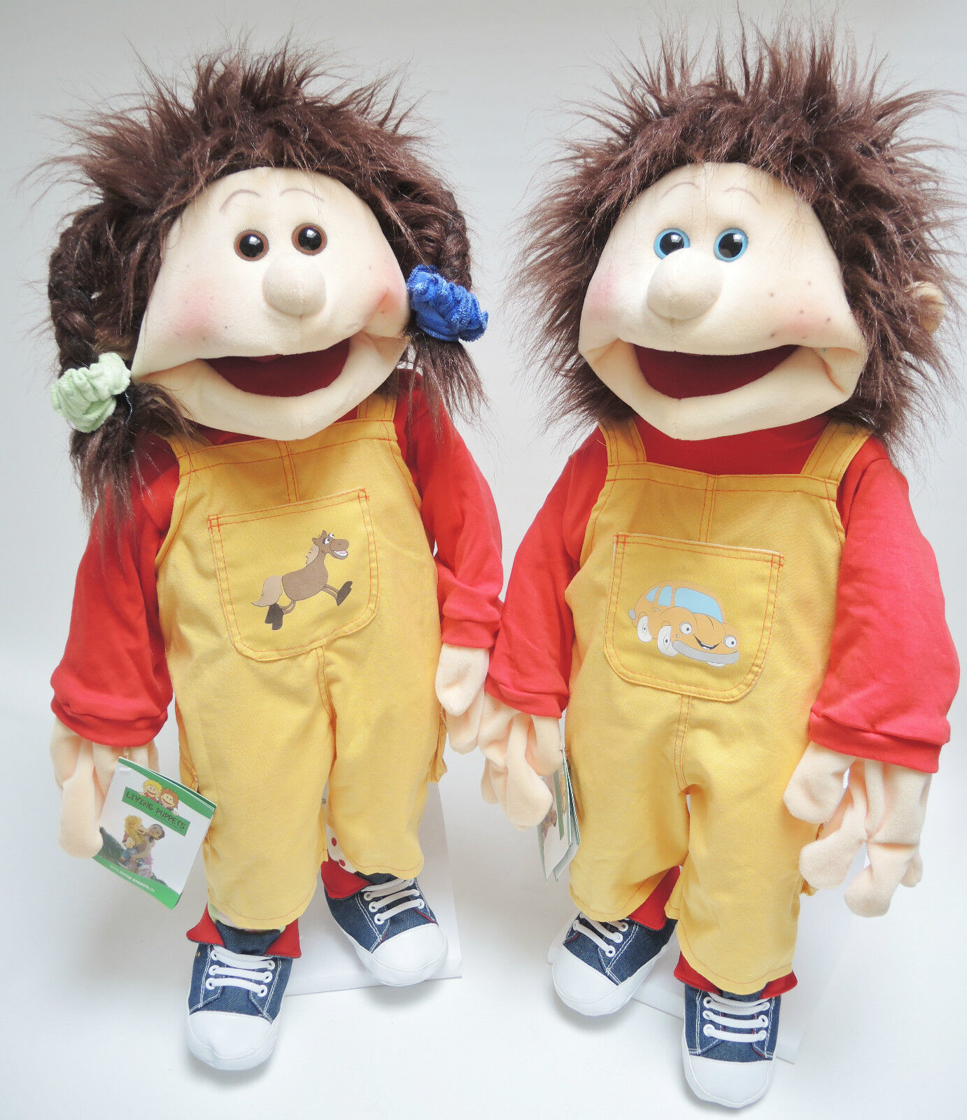Living Puppets  Handpuppe Zwillinge Lou oder oder oder Ping zur Auswahl Gr.65cm   NEU 3bdf29