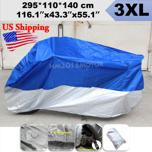 3XL Motorcycle Blue Cover For Kawasaki Vulcan Concours Voyager XII Touring US