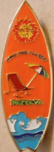 Hard-Rock-Cafe-PATTAYA-2003-Surfboard-Series-PIN-4-of-7-Catalog-17554-ORANGE