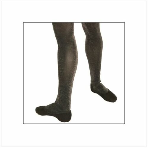 Capezio 1804 Women/'s Size Large//Extra Large Black Sparkle Footed Tights