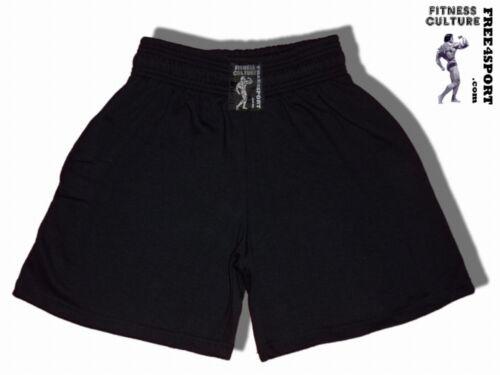 schwarze kurze Hose Bodybuilding Fitnesshose Workout Clothing Free4Sport