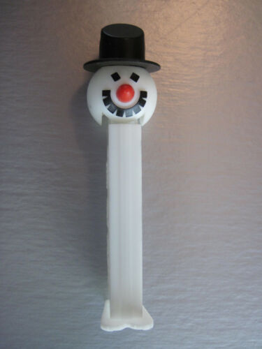 Pez Snowman with 'Carrot' Nose, 'Coal' moutheyes, 'Silk' Hat Functional