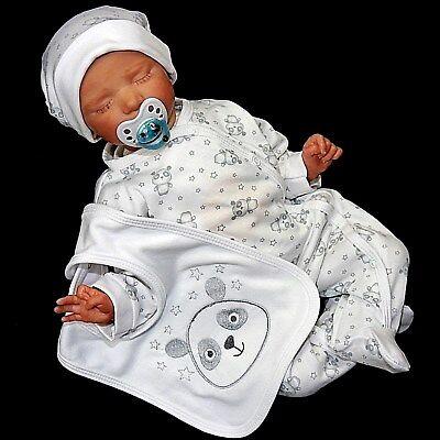3. Tlg Baby Unisex Strampler Set (panda) Gr.56,62,68