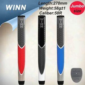 Golf-Grip-Putter-Club-Lite-Jumbo-Size-Grips-Exclusive-Colors-Winn-Black-PU