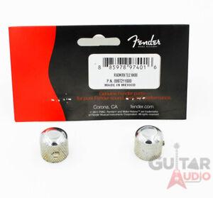 Genuine-Fender-Road-Worn-Relic-Aged-Telecaster-Tele-Chrome-Metal-Dome-Knobs-2