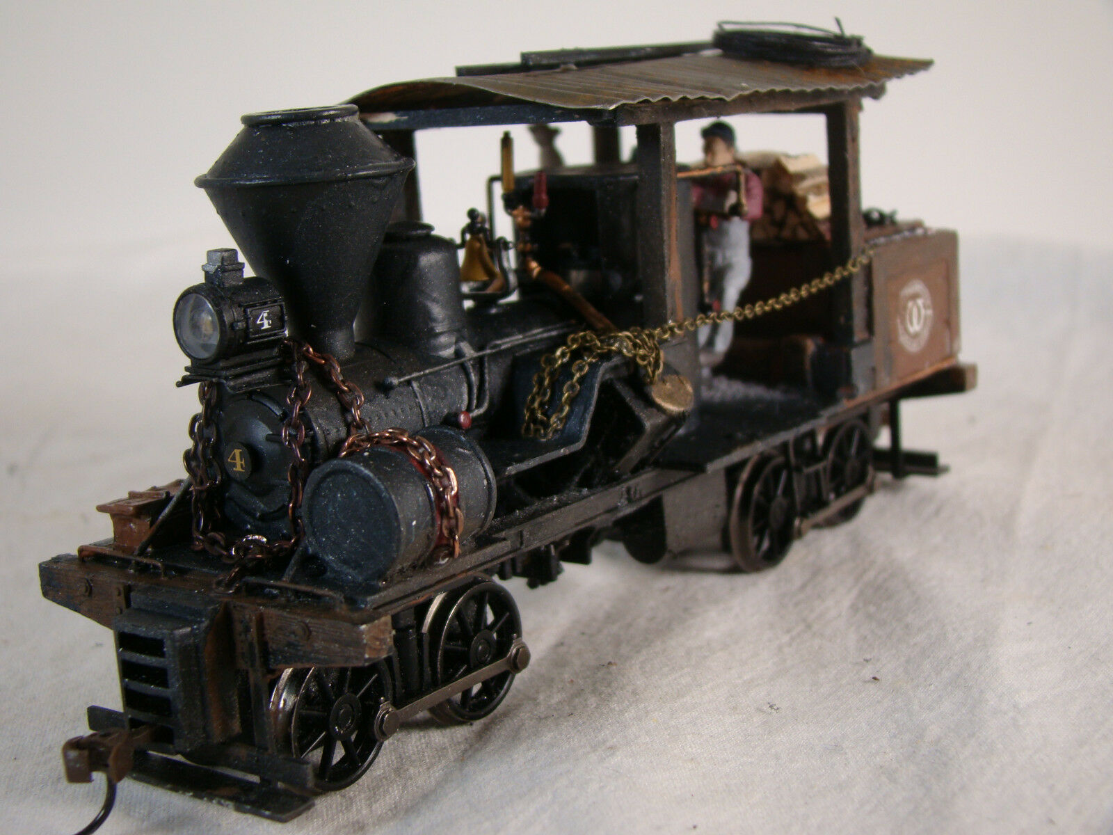 On30 Heisler Steam Logging Locomotive - DCC & Sound - custom weatherosso - lot 30