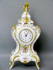 Lindner Küps Rokoko Stil Porzellan Prunk Kamin Uhr um 1970