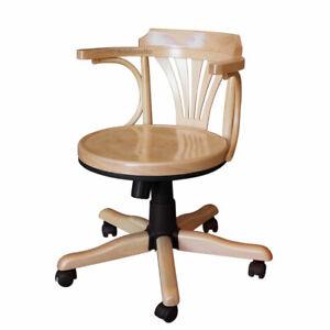 Sedia girevole in legno sedia poltroncina girevole da for Sedie girevoli