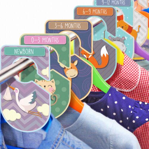 Baby Armoire diviseurs Set Pack de 20 à motif animaux Placard organisateurs Clothing