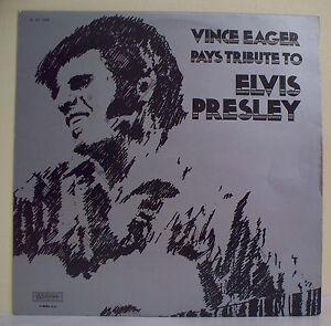 33T-Vince-EAGER-Vinyl-LP-12-034-PAYS-TRIBUTE-TO-ELVIS-PRESLEY-MUSIDISC-1305-RARE