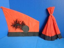 2 VINTAGE HALLOWEEN PARTY HATS- CREPE PAPER - 1930s