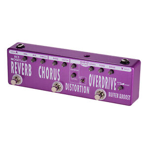 Moksy-Audio-6-in-1-Guitar-Multi-Effect-Pedal-Reverb-Distortion-Overdrive-Booster