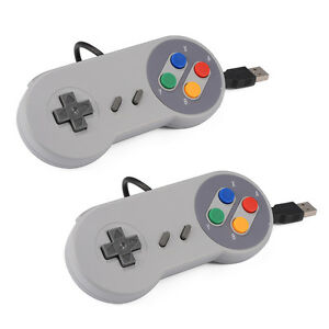 2x-Super-Nintendo-Famicom-SF-SNES-PC-Controller-USB-Gamepad-Joypad-Windows-AC560