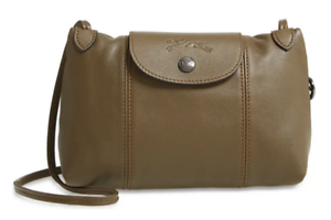 Details about Longchamp Le Pliage Cuir Small Leather Crossbody Bag ~NWT~  LICHEN