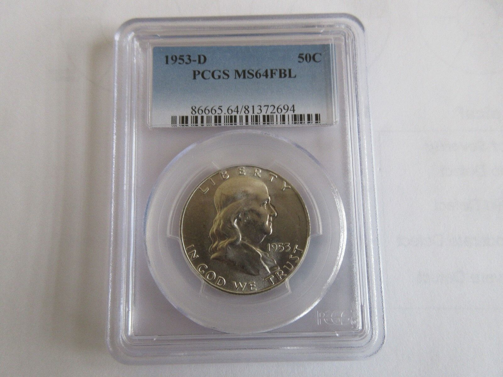 1953-D Franklin Half Dollar PCGS MS64FBL