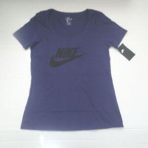 Nike-Women-FUTURA-Icon-Logo-T-Shirt-888985-Purple-566-Size-S-NWT