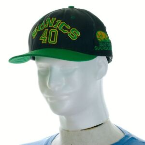 quality design af301 a4a49 Image is loading Seattle-Super-Sonics-Snapback-Hat-Sports-Official-NBA-
