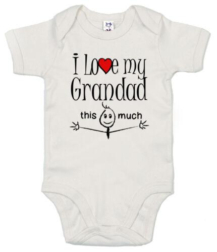 "Funny Baby Bodysuit /""I Love My Grandad This Much/"" Babygrow Vest Granddad"