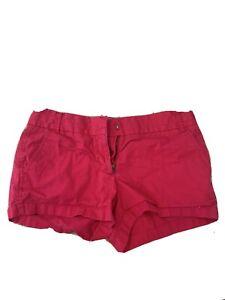 """J.CREW Women's Size 4 Cotton Chino Broken-In Dark Pink Shorts 3"""" Inseam Mid Rise"""