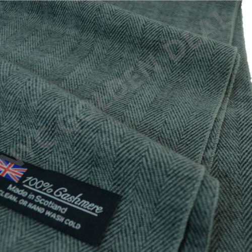 New Men Women 100/% CASHMERE Warm Warp Scarf Scotland Thick Stripe Super Soft