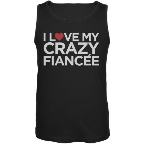 I Love My Crazy Fiance Black Mens Tank Top