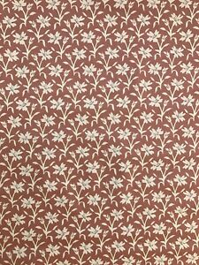 vintage 80 s wallpaper brown cream floral print new textured