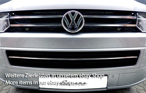 VW T5 Serie 2 09-15 Chrom Zierleisten für Kühlergrill oben breit
