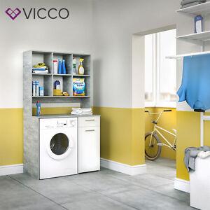 Badmobel Mit Waschmaschinenschrank.Vicco Waschmaschinenschrank 185 X 103 Cm In Weiss Grau Badmobel