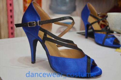 Ladies Ballroom Latin Salsa Dance Shoes Tango Rumba Samba Heels Sandals US5-9